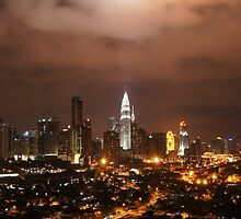 Night At Kuala Lumpur Malaysia by MohdFaris