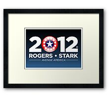 Rogers & Stark 2012 Presidential Campaign Poster Framed Print