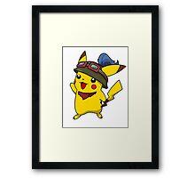 Teemo Pikachu Framed Print