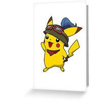 Teemo Pikachu Greeting Card