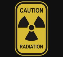 Radioactive Symbol Warning Sign - Radioactivity - Radiation - Yellow & Black - Rectangular by graphix