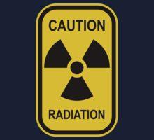 Radioactive Symbol Warning Sign - Radioactivity - Radiation - Yellow & Black - Rectangular Baby Tee