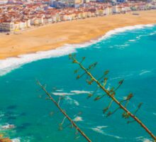 Nazaré beach. where the biggest waves on earth happen. Sticker