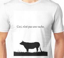 This is not a cow, ceci, n'est pas une vache.  Unisex T-Shirt