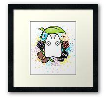 Chibi Totoro Framed Print