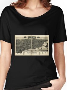 Panoramic Maps Davenport Ia 1888 Women's Relaxed Fit T-Shirt
