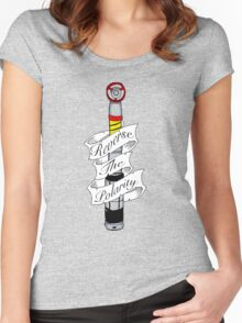 """""""Reverse The Polarity"""" Women's Fitted Scoop T-Shirt"""