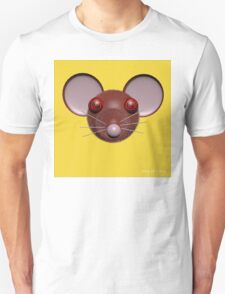 Psychedelic Yellow Mouse Head  T-Shirt