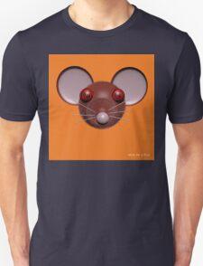 Psychedelic Orange Mouse Head  Unisex T-Shirt