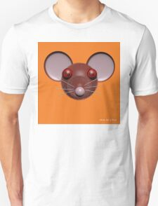 Psychedelic Orange Mouse Head  T-Shirt