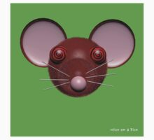 Psychedelic Green Mouse Head  by MiceOnADice