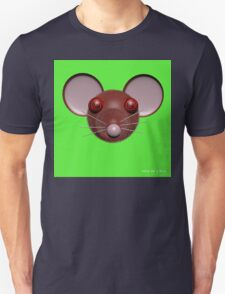 Psychedelic Green Mouse Head  Unisex T-Shirt