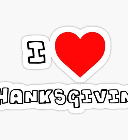 I Heart Thanksgiving Sticker