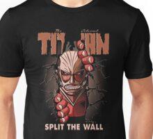 Split the wall Unisex T-Shirt