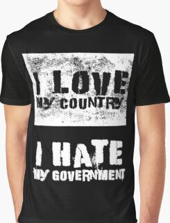 Love and Hate Graphic T-Shirt