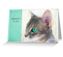 "Cat Eye ""Missing You"" Greeting Card"