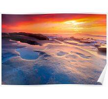 San Diego Beach Sunset Poster