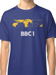 Retro BBC1 world globe ident Classic T-Shirt
