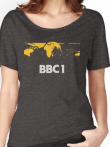 Retro BBC1 world globe ident Women's Relaxed Fit T-Shirt
