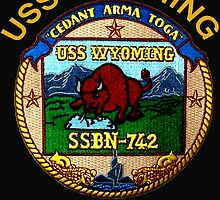 USS Wyoming (SSBN-742) Crest for Dark Colors by Spacestuffplus