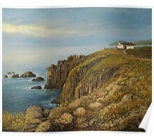 Land's End in Cornwall Poster