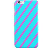 blue pink stripe iPhone Case/Skin