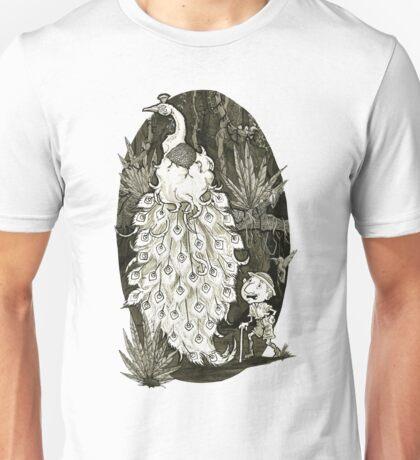 Mystical Peacock Ink Illustration Unisex T-Shirt