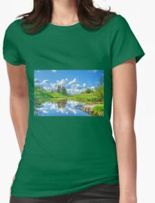 May afternoon Womens Fitted T-Shirt