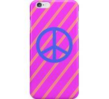 pink blue peace stripe iPhone Case/Skin