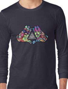Trippy Illuminati Hands Diamond Long Sleeve T-Shirt