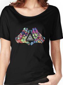 Trippy Illuminati Hands Diamond Women's Relaxed Fit T-Shirt