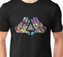 Trippy Illuminati Hands Diamond Unisex T-Shirt