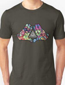 Trippy Illuminati Hands Diamond T-Shirt