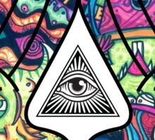 Trippy Illuminati Hands Diamond Sticker