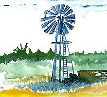 'n Windpomp / Windmill in Africa by Elizabeth Kendall