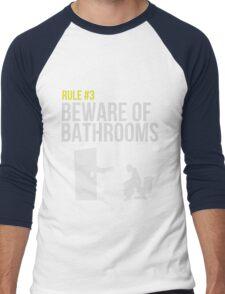 Zombie Survival Guide - Rule #3 - Beware of Bathrooms Men's Baseball ¾ T-Shirt