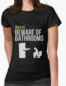 Zombie Survival Guide - Rule #3 - Beware of Bathrooms Womens Fitted T-Shirt
