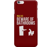 Zombie Survival Guide - Rule #3 - Beware of Bathrooms iPhone Case/Skin
