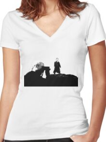 Baskerville (Option II) Women's Fitted V-Neck T-Shirt