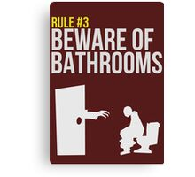 Zombie Survival Guide - Rule #3 - Beware of Bathrooms Canvas Print
