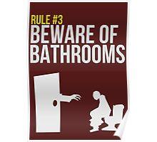 Zombie Survival Guide - Rule #3 - Beware of Bathrooms Poster