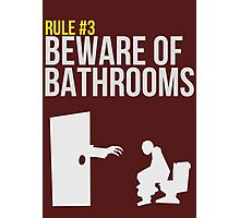 Zombie Survival Guide - Rule #3 - Beware of Bathrooms Photographic Print