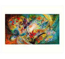 The dancing Butterflies Art Print