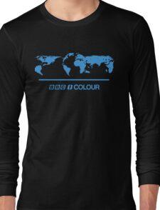Retro BBC 1 Colour globe graphics Long Sleeve T-Shirt
