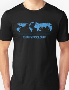 Retro BBC 1 Colour globe graphics T-Shirt