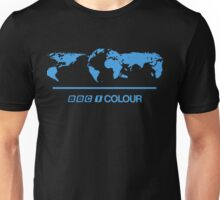 Retro BBC 1 Colour globe graphics Unisex T-Shirt