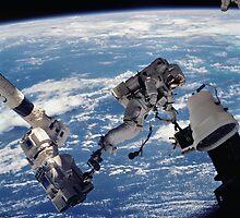 Space Walk Astronaut by TexasBarFight