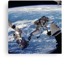 Space Walk Astronaut Canvas Print