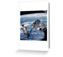 Space Walk Astronaut Greeting Card