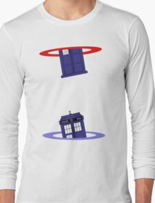 Police Box in a Portal. Long Sleeve T-Shirt